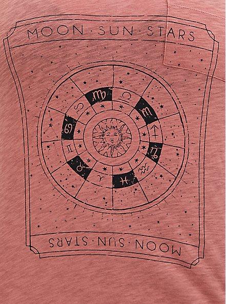 Pocket Tee - Heritage Slub Astrology Card Dusty Coral , DESERT SAND, alternate