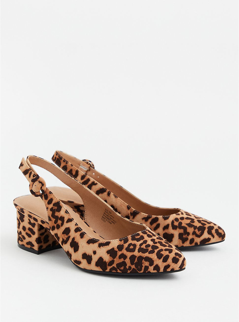 Leopard Faux Suede Pointed Toe Slingback Pump (WW), ANIMAL, hi-res