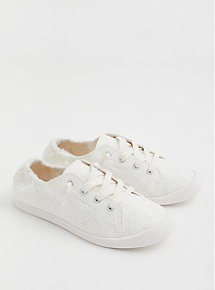 Riley - White Ruched Sneaker (WW), WHITE, alternate