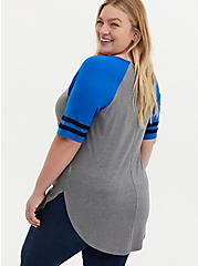 Favorite Football Tunic - Super Soft Heather Grey, HEATHER GREY, alternate