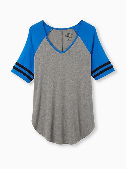Favorite Football Tunic - Super Soft Heather Grey, HEATHER GREY, hi-res