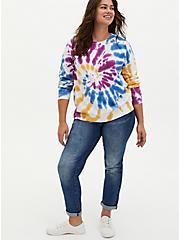 Multi Tie-Dye Fleece Sweatshirt, , alternate