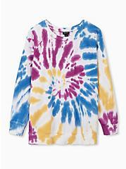 Multi Tie-Dye Fleece Sweatshirt, , hi-res