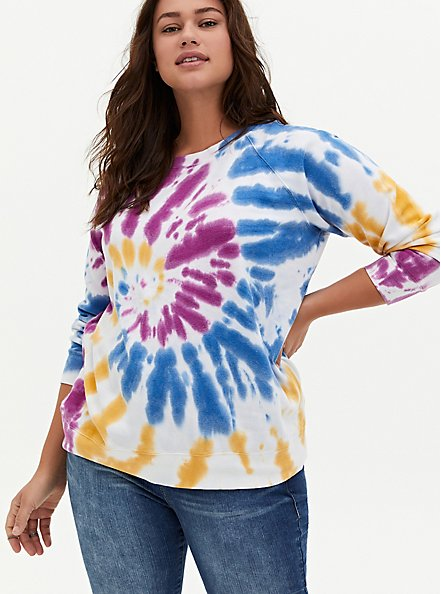 Multi Tie-Dye Fleece Sweatshirt, , hi-res