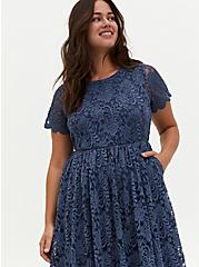 Vintage Indigo Lace Midi Dress, VINTAGE INDIGO, alternate