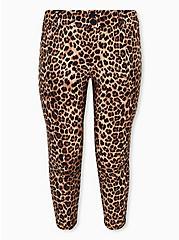Studio Signature Leopard Ponte Skinny Ankle Trouser, LEOPARD, hi-res