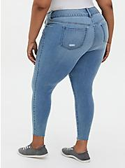 Jegging - Super Soft Light Wash With Raw Hem, EL PORTO, alternate