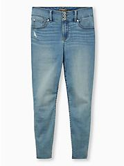 Jegging - Super Soft Light Wash With Raw Hem, EL PORTO, hi-res