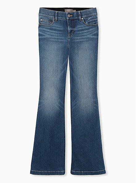 Bombshell Flare Jean - Premium Stretch Eco Medium Wash, WESTCHESTER, hi-res