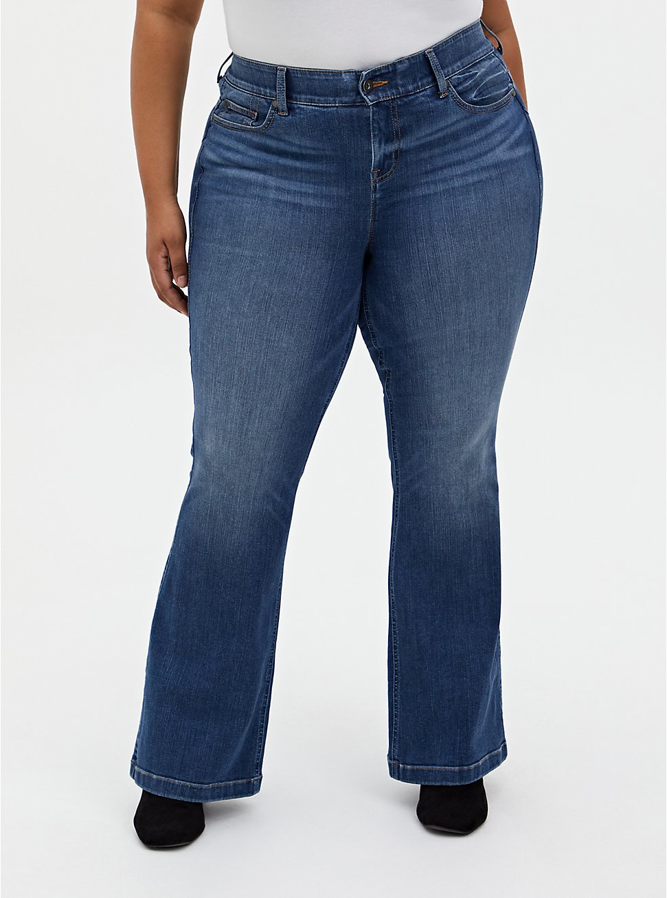 Bombshell Flare Jean - Premium Stretch Eco Medium Wash, WESTCHESTER, hi-res