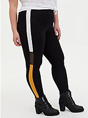 Premium Legging - Colorblock Side Stripe Black , GREY, alternate