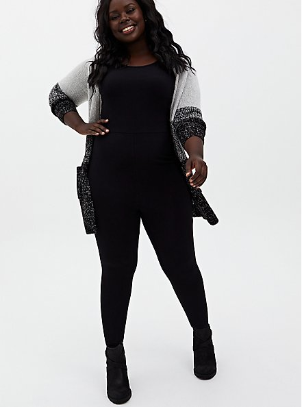 Premium Catsuit - Black , BLACK, alternate