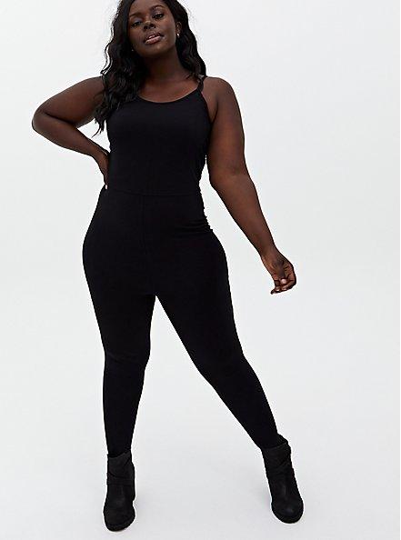 Premium Catsuit - Black , BLACK, hi-res