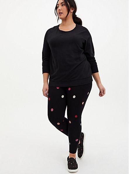 Premium Legging - Multi Sweetheart Dots Black , MULTI, hi-res