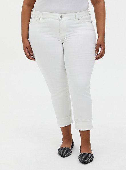 Plus Size Crop Boyfriend Jean - Vintage Stretch White, WINTER WHITE, alternate