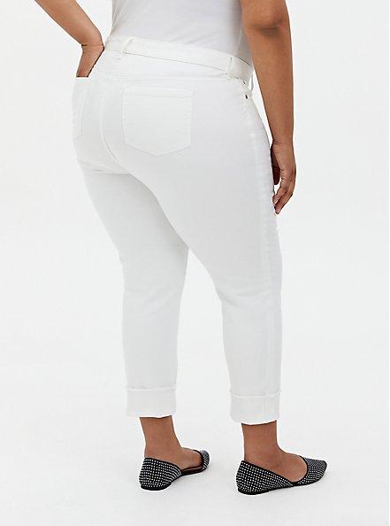 Plus Size Crop Boyfriend Jean - Vintage Stretch White, WINTER WHITE, hi-res