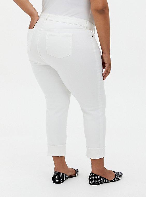 Crop Boyfriend Jean - Vintage Stretch White, WINTER WHITE, hi-res