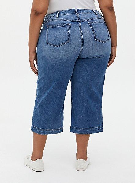 Crop High Rise Wide Leg Jean - Vintage Stretch Light Wash, MONTROSE, alternate