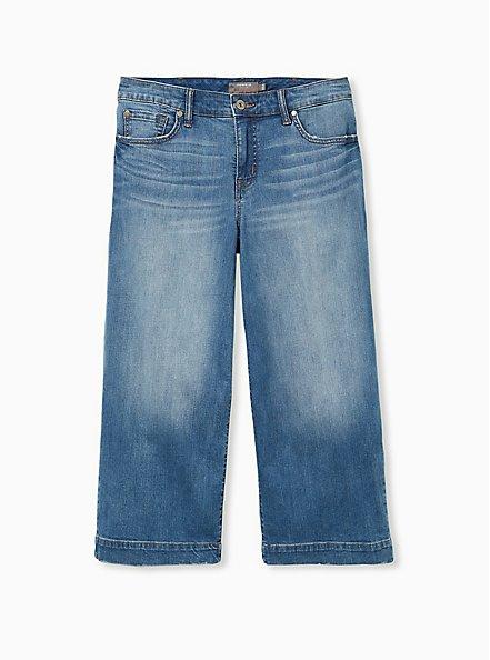 Crop High Rise Wide Leg Jean - Vintage Stretch Light Wash, MONTROSE, hi-res