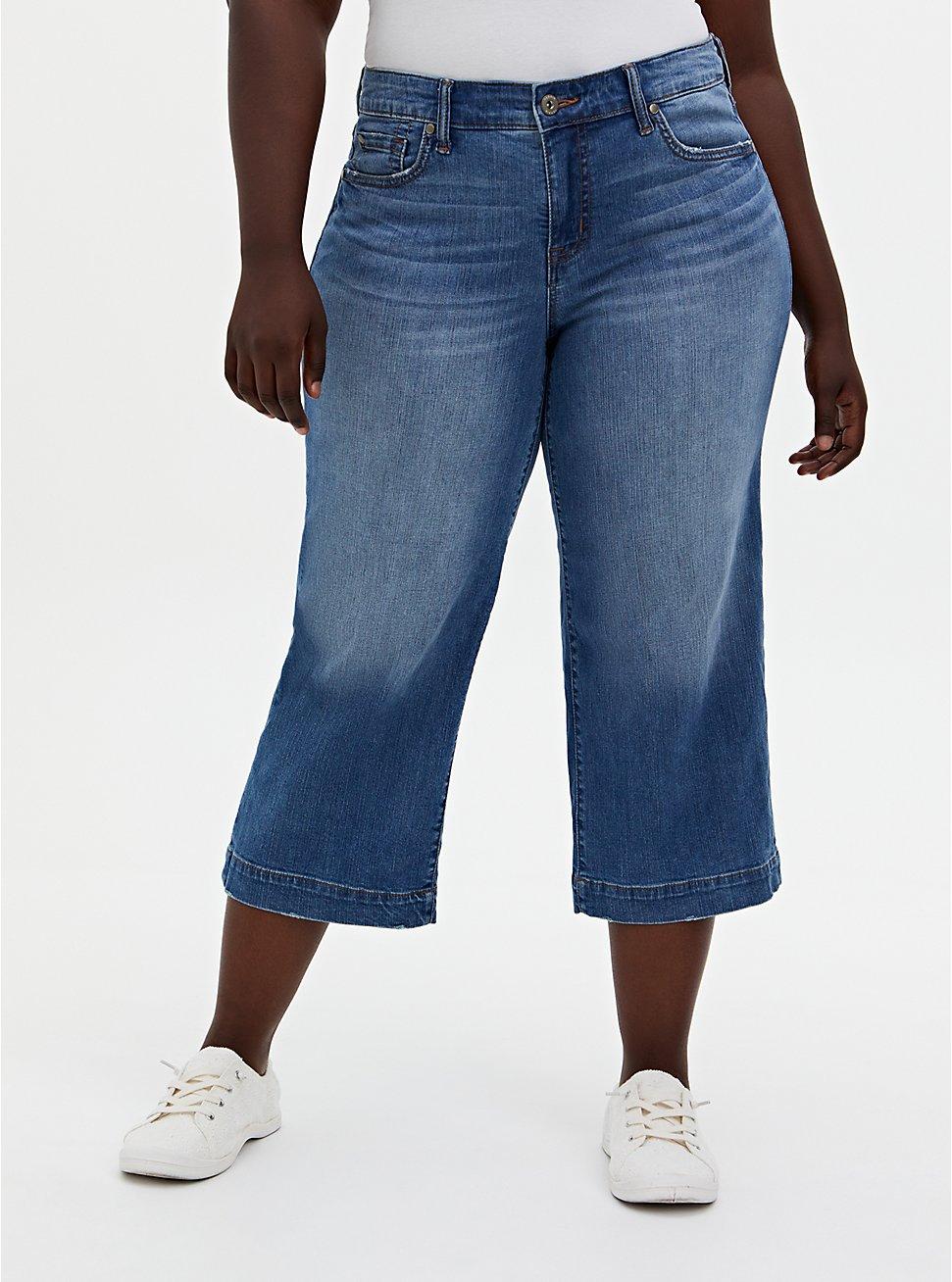 Crop High Rise Wide Leg Jean - Vintage Stretch Light Wash, , fitModel1-hires
