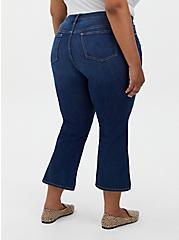 Crop Mid Rise Flare Jean - Vintage Stretch Medium Wash, PRIMO, alternate