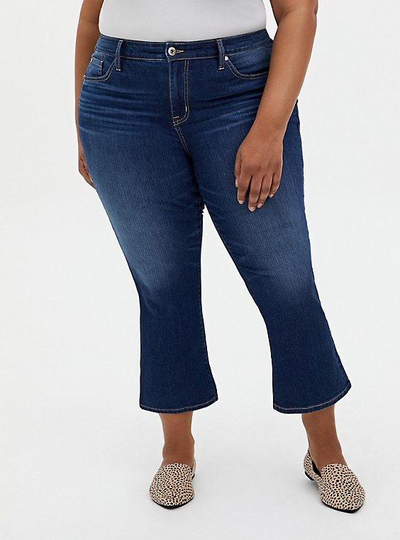 Crop Mid Rise Flare Jean - Vintage Stretch Medium Wash, PRIMO, hi-res