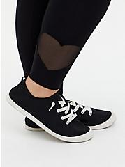 Premium Legging - Heart Cutout Hem Black , BLACK, alternate