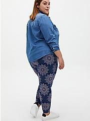 Premium Leggings - Medallion Navy, MULTI, alternate