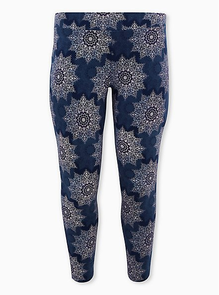 Premium Leggings - Medallion Navy, MULTI, hi-res