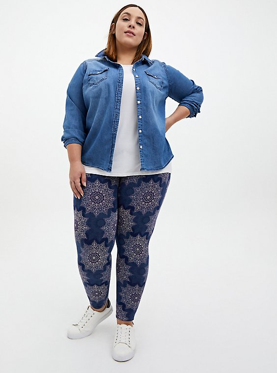 Premium Leggings - Medallion Navy, , hi-res