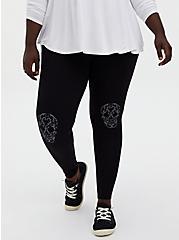 Premium Leggings - Skull Knee Black, , alternate