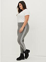 Premium Leggings - Side Stripe Heather Grey, GREY, alternate