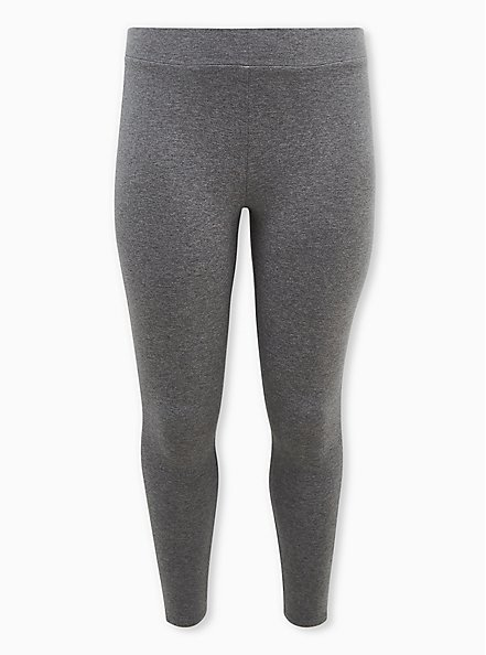 Premium Leggings - Side Stripe Heather Grey, GREY, hi-res