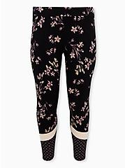 Premium Leggings - Mixed Floral Black, BLACK, hi-res