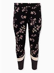 Premium Leggings - Mixed Floral Black, BLACK, hi-res