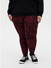 Premium Leggings - Heart Swirl Red & Black, MULTI, alternate