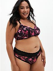 Black Floral 360° Back Smoothing™ Lightly Lined Wire-Free Bra, X RAY FLORAL RICH BLACK, alternate