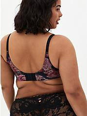 Plus Size Black Floral 360° Back Smoothing™ XO Push-Up Plunge Bra, ROSANNE FLORAL, alternate