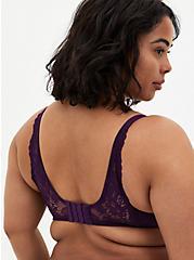 Dark Purple Lace 360° Back Smoothing™ Push-Up Plunge Bra, , fitModel1-alternate