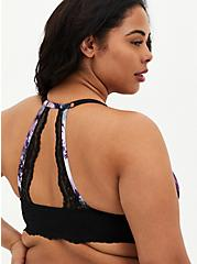 Tie-Dye Microfiber & Lace Push-Up Racerback Bra, TIGER DYE, alternate
