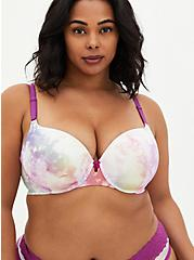 White Tie-Dye 360° Back Smoothing™ Lightly Lined T-Shirt Bra , , fitModel1-hires