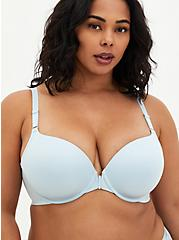 Baby Blue 360° Back Smoothing™ Front Closure Lightly Lined T-Shirt Bra, BABY BLUE, hi-res