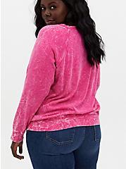 Black Panther Hot Pink Mineral Wash Fleece Sweatshirt, HOT PINK, alternate