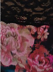 Black Floral Second Skin Thong Panty, ROSANNE FLORAL, alternate