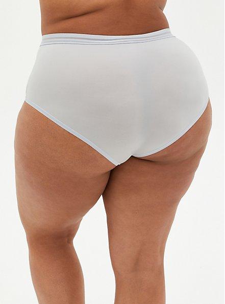 Plus Size Light Grey Second Skin Brief Panty, , alternate