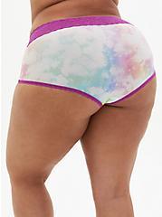Multi Tie-Dye Second Skin Brief Panty, , alternate