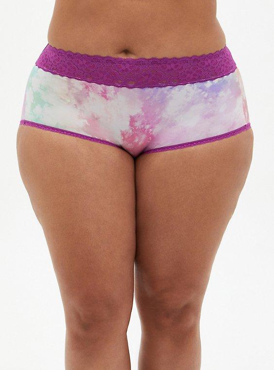 Multi Tie-Dye Second Skin Brief Panty, , hi-res