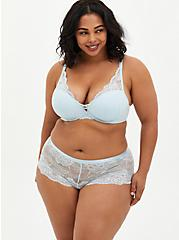 Baby Blue Lace Lattice Cheeky Panty , BABY BLUE, alternate