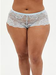 Baby Blue Lace Lattice Cheeky Panty , BABY BLUE, hi-res
