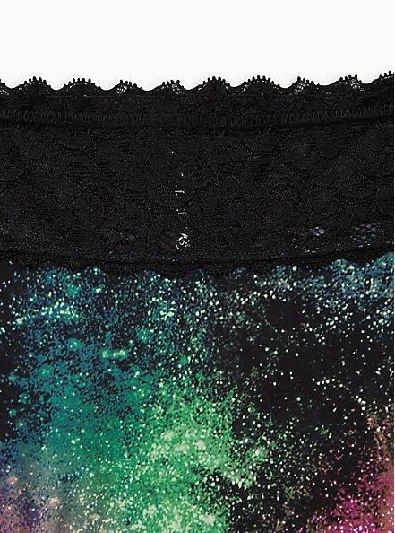 Black Galaxy Second Skin Cheeky Panty, BRIGHT GALAXY- BLACK, alternate